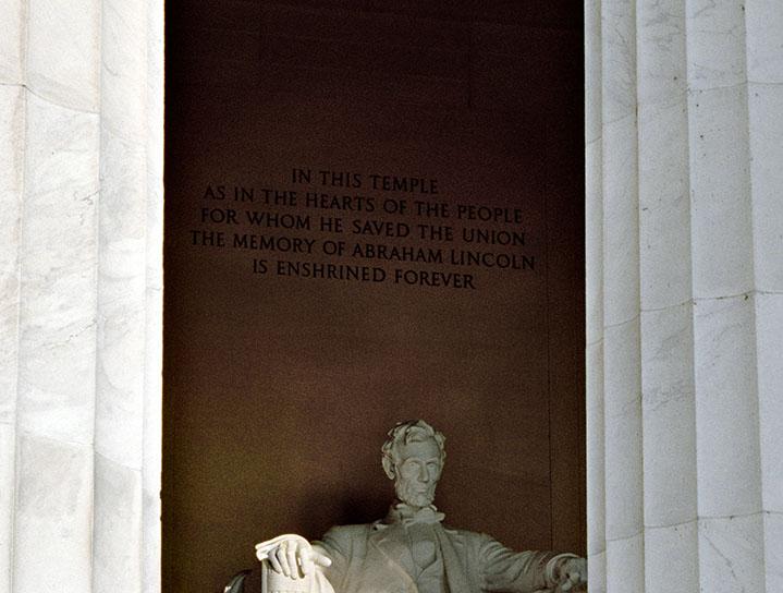 Lincoln Memorial, Detail.