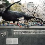 A-bomb Victim--Monument of Hiroshima, 141 meters from the hypocenter, photograph by Shigeo Hyashi, October 5, 1945, 2013, Chromogenic print, 30 x 40 inch.