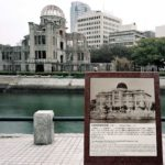 The Hiroshima Prefectural Industrial Promotion Hall (A-bomb Dome), about 160 meters from the hypocenter, March 2013, Chromogenic print, 30 x 40 inch.
