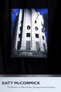 Installation view, WARC Gallery, Toronto, 2006, view of The Broken Column, Le Désert de Retz, 2003, chromogenic print, 48 x 63 in.