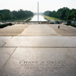 """I Have a Dream,"" Lincoln Memorial, 2008-12, 76.2 x 96.5 cm."