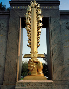 """""""To Our Dead,"""" Second Division Memorial (WWI), 2008-12, 96.5 x 76.2 cm."""