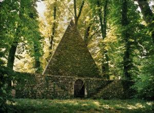The Pyramid/Ice House, Le Désert de Retz, 2004, chromogenic print, 30 x 40 in.