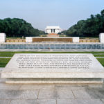 """Here in the Presence of Washington and Lincoln,"" World War II Memorial, 2008-12, 76.2 x 96.5 cm."
