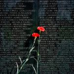 Red Carnations, Vietnam Veterans Memorial, 2008-12, 45.7 x 63.5 cm.