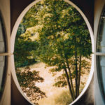 View from the Column #2, Le Désert de Retz, 2004, chromogenic print, 40 x 30 in.