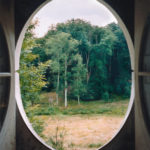 View from the Column #3, Le Désert de Retz, 2004, chromogenic print, 40 x 30 in.