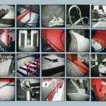 Parc de la Villette, 1999, 20 gelatin silver & chromogenic prints, 68 in. x 84 in.