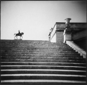 Warrior, Chantilly, 1997, gelatin silver print, 19 in. x 19 in.