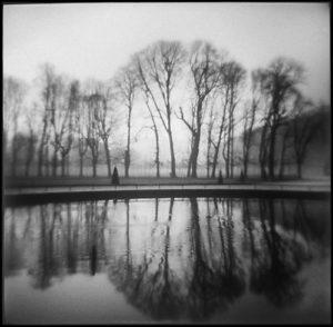 Reflecting Pool, St-Cloud, gelatin silver print, 19 in. x 19 in.