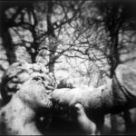 Trumpeting Faun, St-Cloud, 1996, gelatin silver print, 19 in. x 19 in.